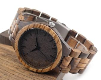 Handmade Bamboo Wood Watch with Japanese Movement