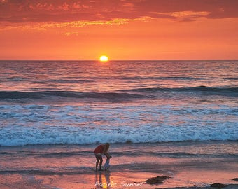 Pacific Sunset - Fine Art Note Card and Envelope