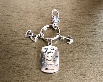 Mother and daughter relationship keychain
