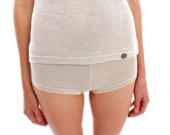Hemp Hot Pants, Woman, Organic fashion, Handmade, Vegan, 100% Hemp
