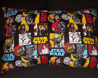 "Comic Book STAR WARS Handmade New Cotton Blend Pillow 18"" x 13"" with FREE Shipping"