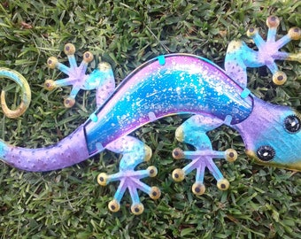 "24"" Watercolor Gecko Decor"