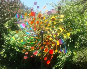 Large Kinetic Rotating Spinner Yard Art