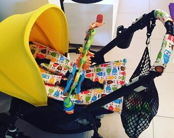 seat stroller liner with strap, stroller pad, pram strap covers, Bugaboo seat, baby carriers&wraps, stroller seat liner, Babyzen Yoyo, owl
