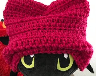 Pink beanie hat handmade