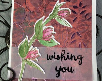 Handmade card, Altenew Floral Sprig stamp, Watercolor, Have Lovely Day,  Any Occasion Card, Birthday card, Mother's Day, special friend card