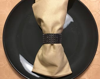 Black Sparkly Napkin Ring