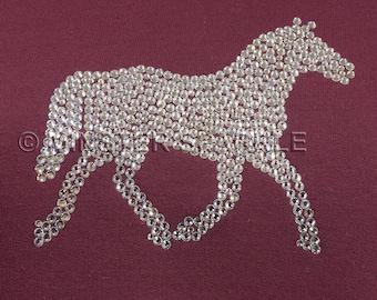 Sparkly Horse Embellished Top