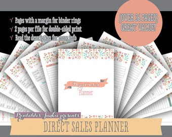Direct Sales Planner: Printable Planner - Direct Sales Printable Planner - Marketing Printable Planner - Direct Sales Binder - Direct Sales