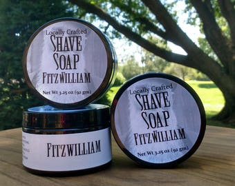 Shave Soap - Men's Shaving - Fitzwilliam - Men's Grooming - Great Gift for Him - Traditional Men's Shave Soap