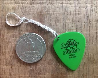 Guitar Pick Earrings (Dunlop Green)