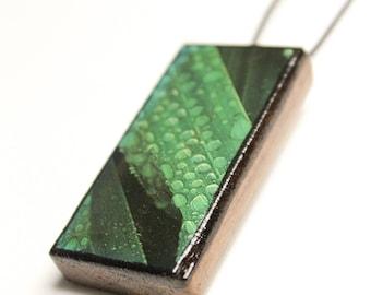 Droplets on Leaf Wooden Pendant