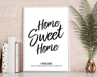 Home Sweet Home Print, New Home, House Warming