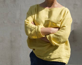 Linen blouse one size