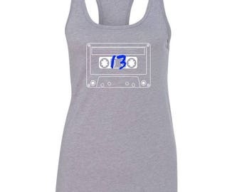 13 Reasons Why / Cassette Tape Racerback Tank