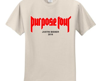 Justin Bieber / Purpose Tour 2016 / My Mama Don't Like You Tan T-Shirt
