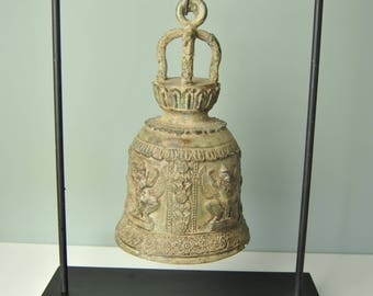 Bronze temple bell from Indonesia.