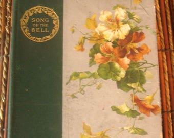 Antique Book Illustrated German Classic Song of The Bell