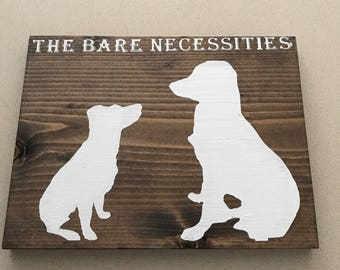 Dog Silhouette Wood Sign