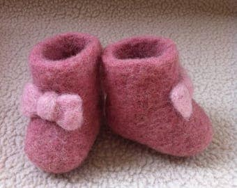 Preemie baby,Gender and pregnancy reveal booties.Perfect for grandparents,christening gift,Great photo prop.Baby girl keepsake