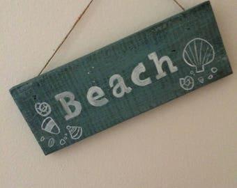 Plaque inscription Beach