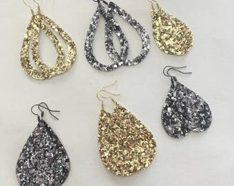 Gunmetal or gold sparkles