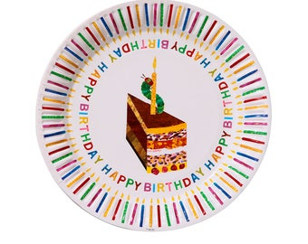 8 The Very Hungry Caterpillar Party Plates, Paper Plates, 1st Birthday, Hungry Caterpillar Birthday, Christening, Butterfly, Happy Birthday