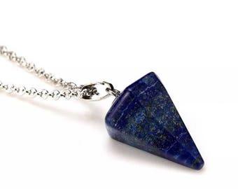 Reiki charged lapis lazuli necklace