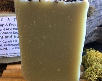 Hempseed and Alloe Butter Natural Soap Bar – Spearmint and Eucalypthus