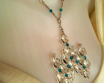 Necklace Sterling Silver 925 Author's handmade  Art work on silver
