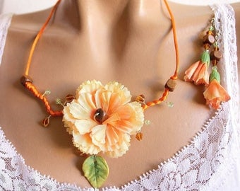 orange Carnation flower adornment.