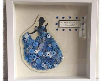 Disney Princess, Cinderella Button art.