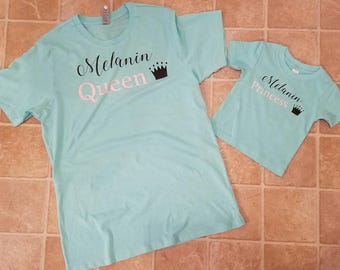 Mother/ Daughter Shirts Queen and Princess