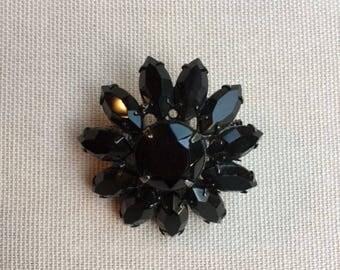 Vintage Black Brooch