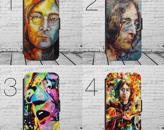 John Lennon The Beatles Imagine flip wallet PHONE CASE COVER fits iPHONE 4 5 6 7+