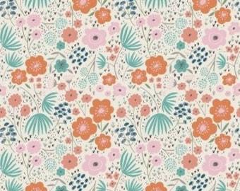 Ava Rose Floral Cream Fabric by Riley Blake Designs - Deena Rutter - 100% Cotton