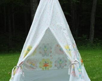 Custom Made Childrenu0027s Play Tent Teepee - Ikea Fabric Quilted LATTJO & Childrenu0027s Play Tent Teepee Funky Fun Ikea SOMMAR 2017