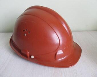 """Miner's helmet. """"Trud"""".  USSR."""