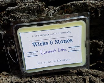 Coconut Lime Soy Wax Melts| Melts| Tarts|