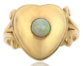 Antique Opal Locket Ring