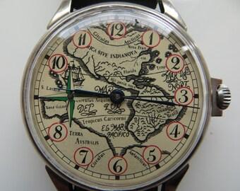 Vintage men's wrist Watch mechanism 3602 - ussr, soviet union, ,VERY RARE.