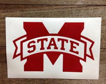 Mississippi State Vinyl Decal