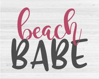 Beach Babe - SVG Cut File