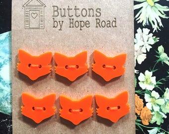 Foxy Fox Acrylic Buttons