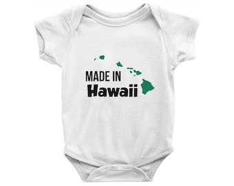Made in hawaii etsy made in hawaii onesie made in hawaii bodysuit hawaii baby aloha onesie negle Gallery
