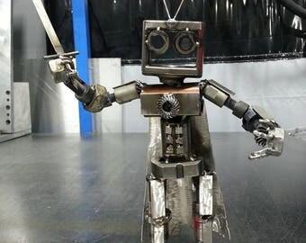 Metal Art: Welded Metal Robot
