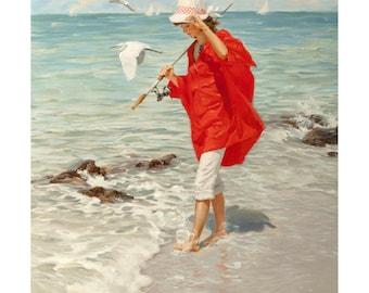 "Poster - ""A Good Catch"" of Al Buell - fine art gallery"