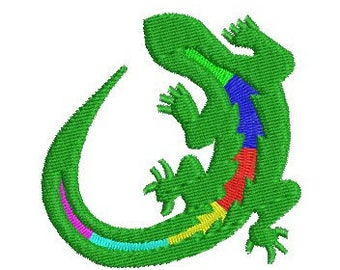 NeedleUp - Gecko embroidery design