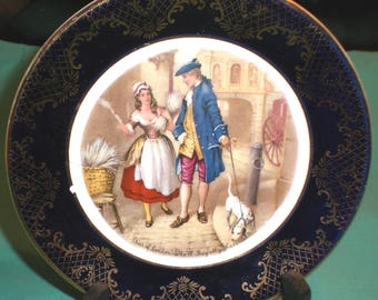 ornamental plate -cries of London, who ll buy ....-/pottery/British