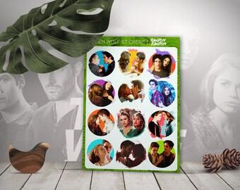 Teen wolf stickers, teen wolf, laptop stickers, fandom stickers, TV series, tumblr stickers, Vinyl Stickers, Cool Stickers, Sticker Pack